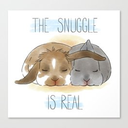 The Snuggle is Real Canvas Print