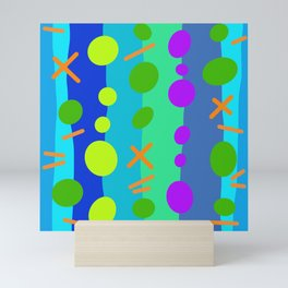 Party Time / Blue Mini Art Print
