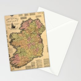Vintage Map of Ireland (1893) Stationery Cards