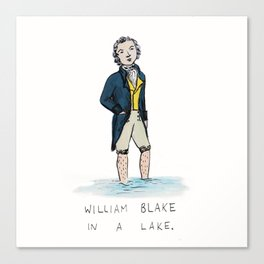 William Blake in a Lake Canvas Print