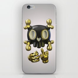 Crossbone SkullToon iPhone Skin