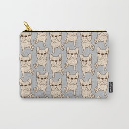 Cream French Bulldog Carry-All Pouch