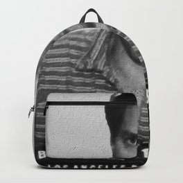 Painting of Hugh Grant Mug Shot 1995 Black And White Mugshot Backpack