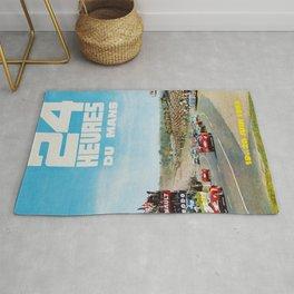 1965 Le Mans poster, Race poster, car poster, garage poster Rug
