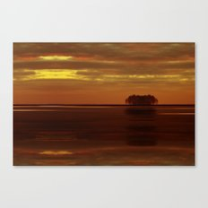 Be the island, and find yourself Canvas Print