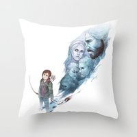 the last of us Throw Pillows featuring Last of Us by Stephanie Kao