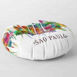 Sao Paulo Brazil Skyline Floor Pillow
