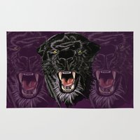 panther Area & Throw Rugs featuring Panther by Tish