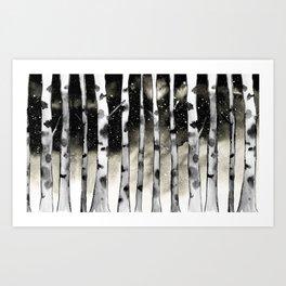 Vanilla Birch Art Print