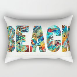 Beach Art - Beachy Keen - By Sharon Cummings Rectangular Pillow