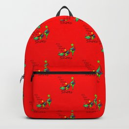 All You Need Is Shoes Red - Fashion Typography Backpack