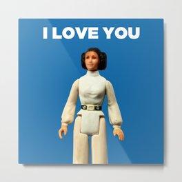 I Love You - Leia Metal Print