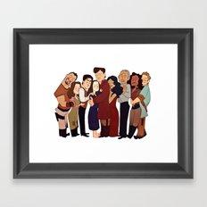 Firefly Crew Hug Framed Art Print