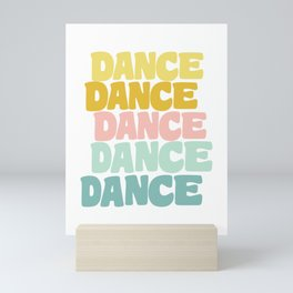 Dance in Candy Pastel Lettering Mini Art Print