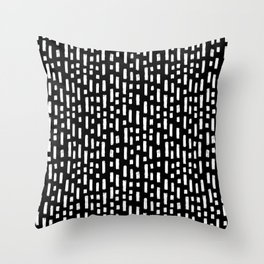 linocut dots and dashed stripes spots minimalist decor gifts hipster friendly Throw Pillow