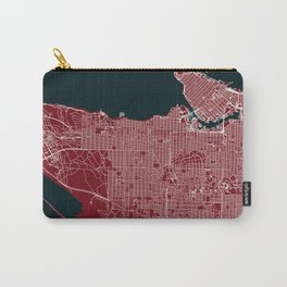 Vancouver, Canada street map Carry-All Pouch