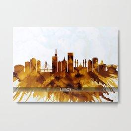 Lagos Nigeria Skyline Metal Print
