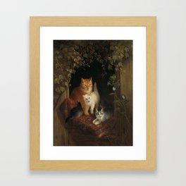 Henriëtte Ronner - Cat with kittens (1844) Framed Art Print