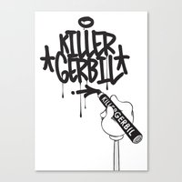writer Canvas Prints featuring Writer by The Killer Gerbil