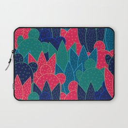 Cactus field at night Laptop Sleeve