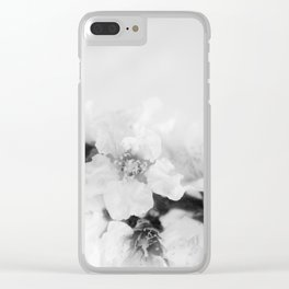 Black And White Blossoms Clear iPhone Case