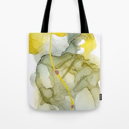 Talk to Me, Yellow Abstract Tote Bag