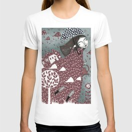 Clouds in July, Raindrop Sky T-shirt