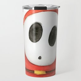 Confused Shy Guy Travel Mug