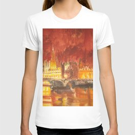 Abbey at night T-shirt