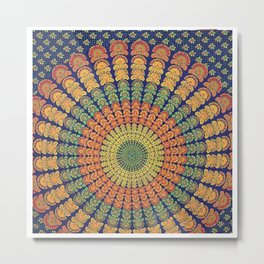 Traditional Wall Hanging Tapestry Metal Print