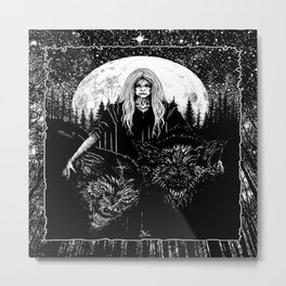 Queen of the Hellhounds Metal Print