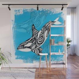 Orca Killer Whale Spirit Blue Wall Mural
