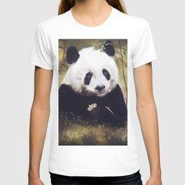 Panda Bear Pastel Painting T-shirt
