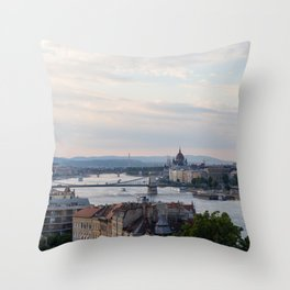 View over Budapest Throw Pillow