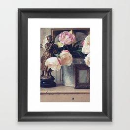 Flower & Bucket Framed Art Print