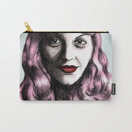 Sylvia Plath_Pink Blue Carry-All Pouch