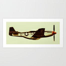 P-51 Mustang Vintage Art Print