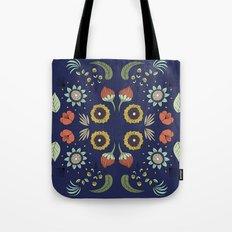 Flora Pattern I Dark Tote Bag