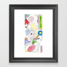 Line Vs Color #2 Framed Art Print