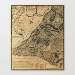 Map of New York (1766) Canvas Print