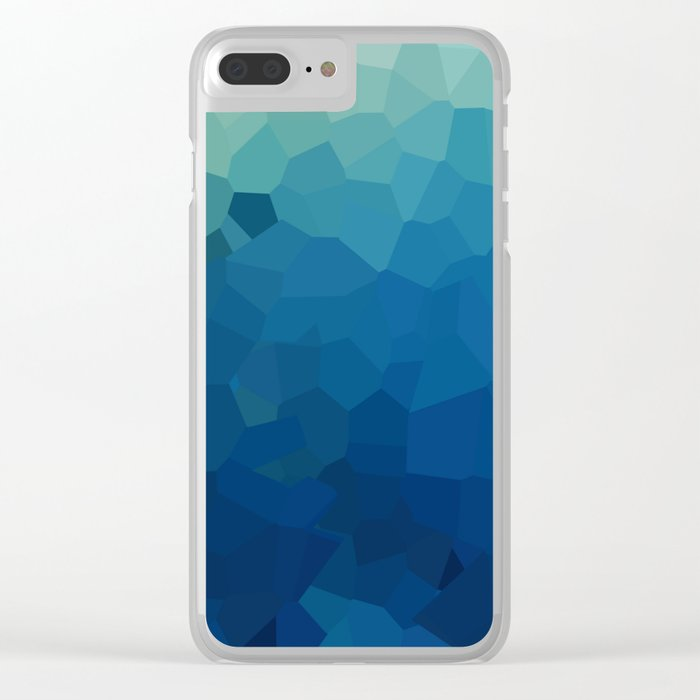 Sea Moon Love Clear iPhone Case