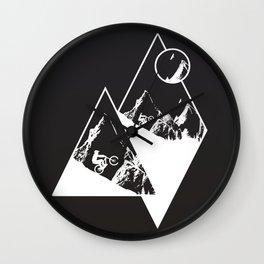 MTB White Mountains Wall Clock