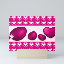 Love celebration easter hearts Mini Art Print