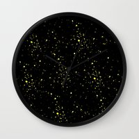 starry night Wall Clocks featuring Starry night by haroulita
