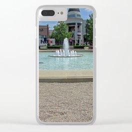 easton fountain Clear iPhone Case