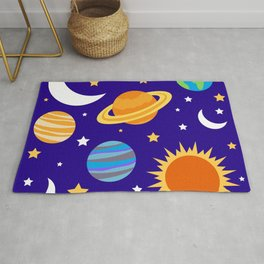 Solar System Miss Frizzle from Magic School Bus Rug