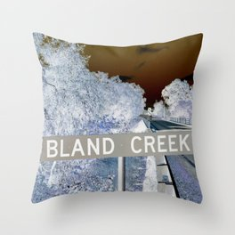 bland creek Throw Pillow