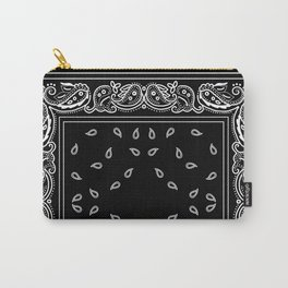 Black & White Bandana Carry-All Pouch