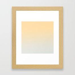 CREAM DREAM - Minimal Plain Soft Mood Color Blend Prints Framed Art Print