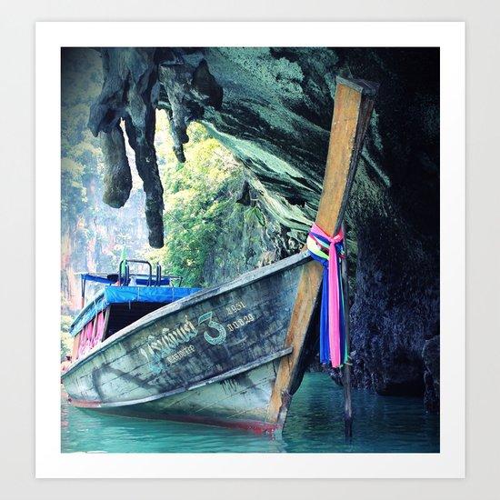 Longboat Art Print